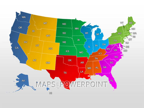 U S Powerpoint Maps Standard Kit Maps4powerpoint Com