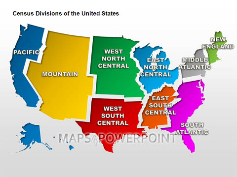 U.S. PowerPoint Maps Standard Kit. Maps4PowerPoint.com