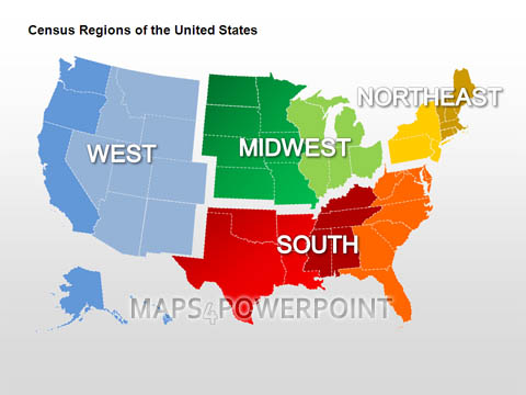 United States Map Ppt.U S Powerpoint Maps Standard Kit Maps4powerpoint Com